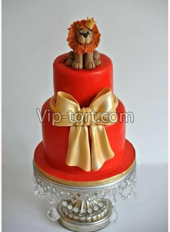 Детский торт лев фото